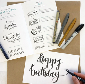 Brush Lettering Kit by Wildflower Art Studio