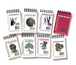 Mini Spiral Sketch & Drawing Pads,  Borden & Riley