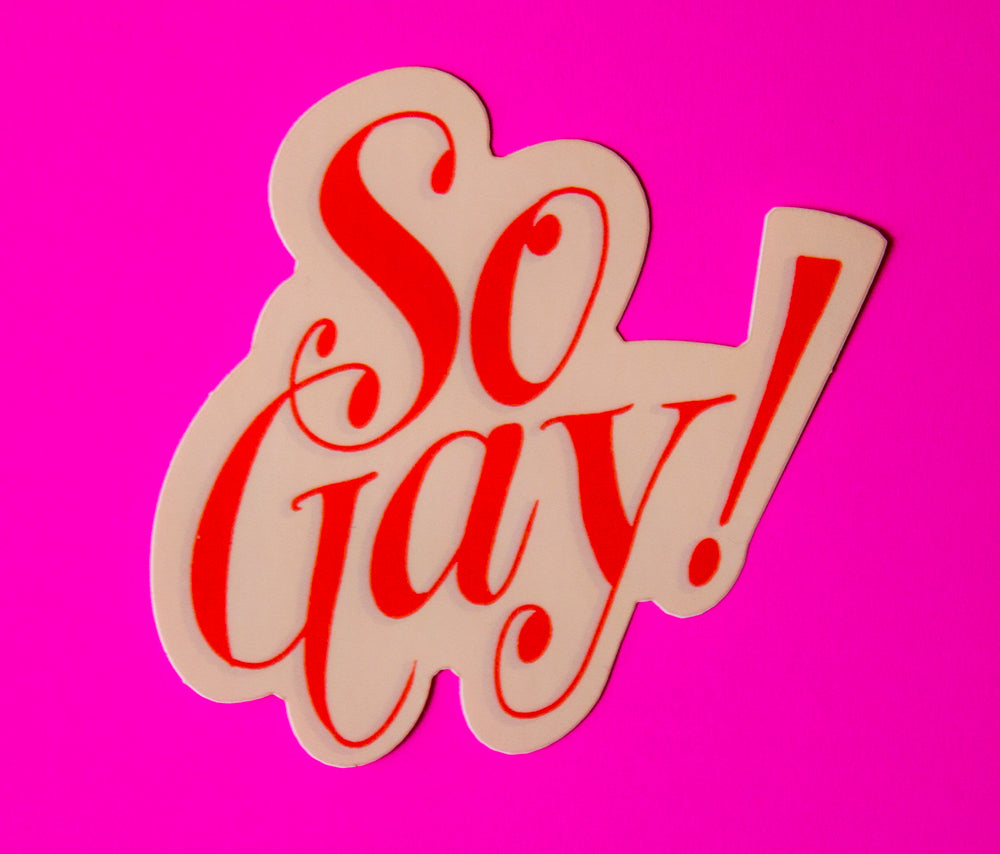 So gay sticker ladyfingers letterpress