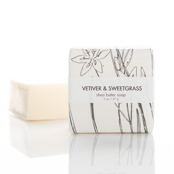 SHEA BUTTER SOAP - VETIVER & SWEETGRASS