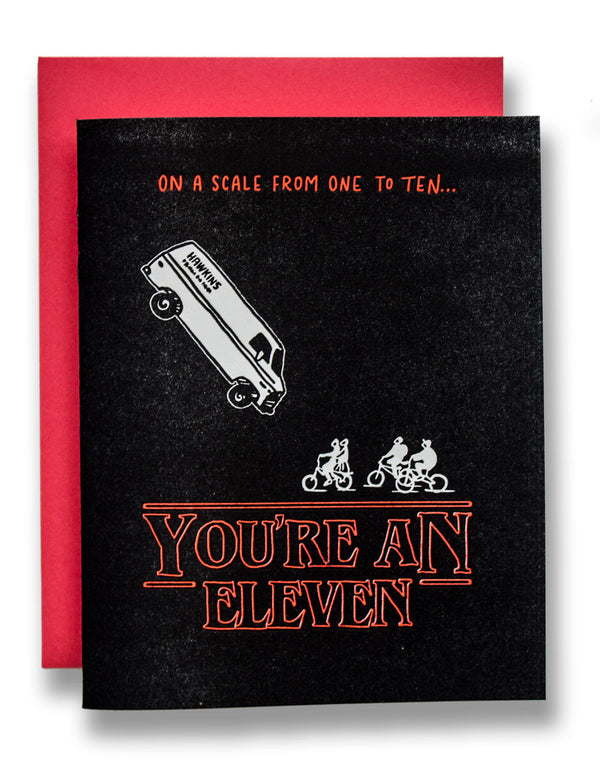 Stranger Things Card - You're An Eleven