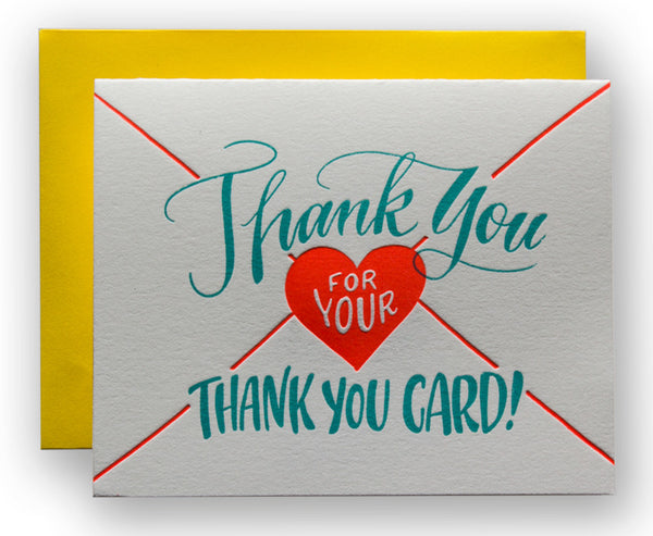 Thank You For Your Thank You Card