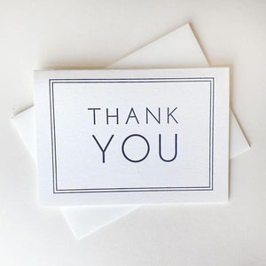 Thank You Navy Frame Card Boxed Set