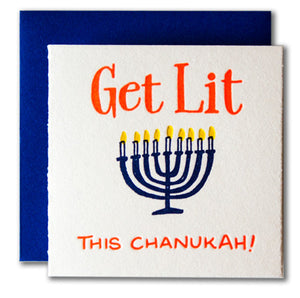 Get Lit This Chanukah Tiny Holiday Card