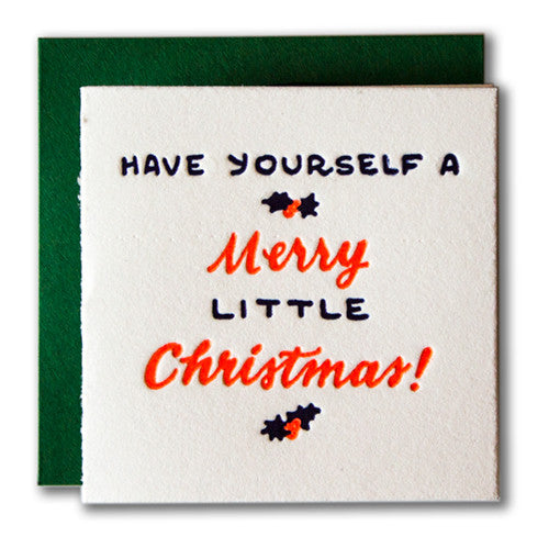 Merry Little Christmas Tiny Holiday Card