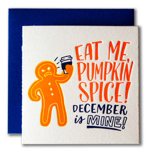 Pumpkin Spice Tiny Holiday Card