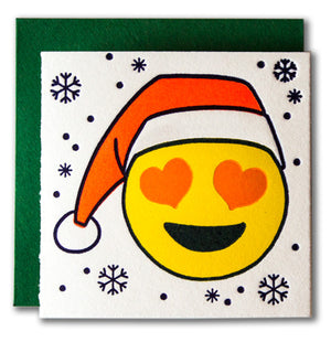 Santa Emoji Tiny Holiday Card