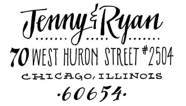 Huron Return Address Rubber Stamp