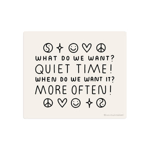 Quiet Time Sticker by Worthwhile Paper