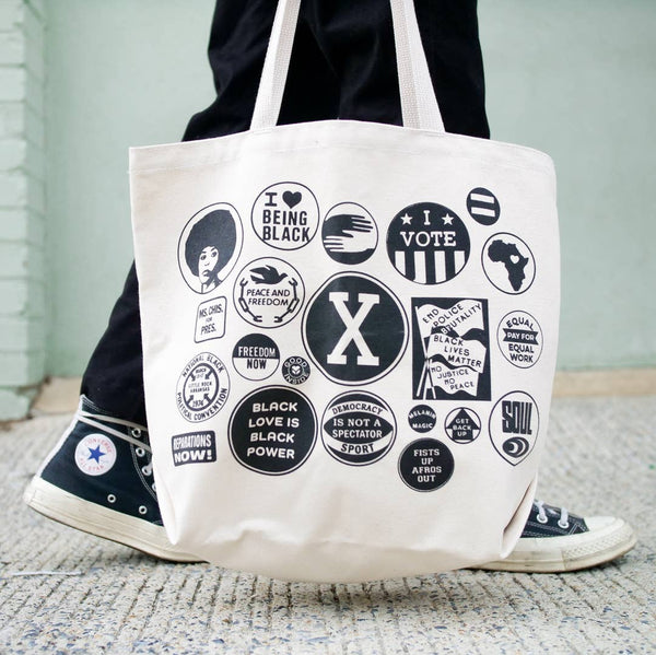 Power Button Tote Bag by All Very Goods