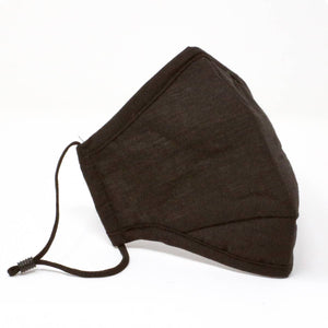 Black Reusable Cotton Face Mask with Nose Wire