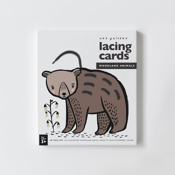 Woodland Animals Lacing Cards by Wee Gallery