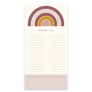 Rainbow Sunshine Market List by Ruff House Print Shop