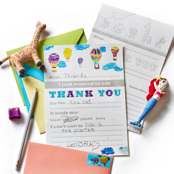Kid Thank You Notes Kit by Color Box Design & Letterpress