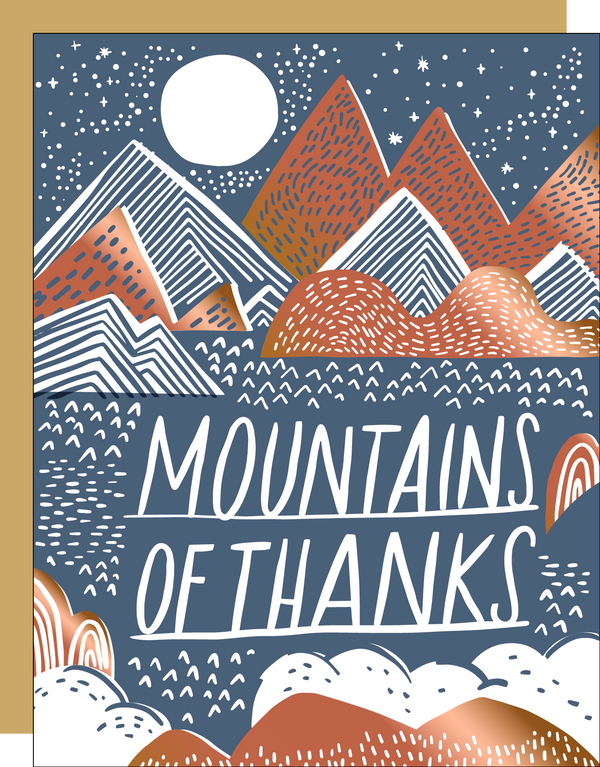 Mountains Of Thanks Card by HELLO! LUCKY
