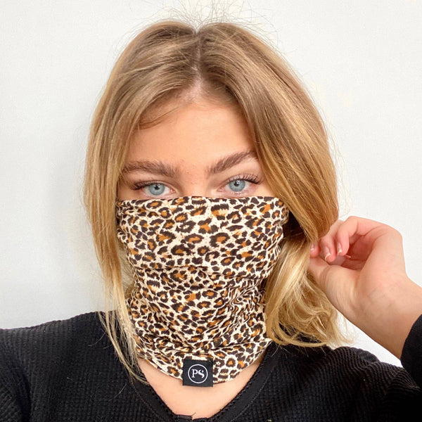 Leopard Beanie/Mask by Pretty Simple