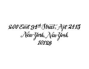 Avenue Return Address Rubber Stamp