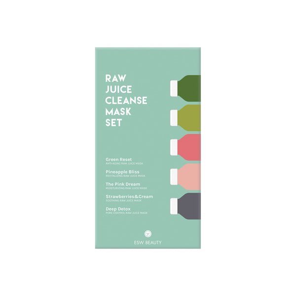 Raw Juice Cleanse Mask Gift Set by ESW Beauty