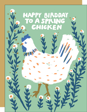 Spring Chicken Birthday Card by EGG PRESS