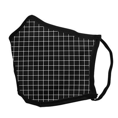 Black Lines Face Mask - LARGE