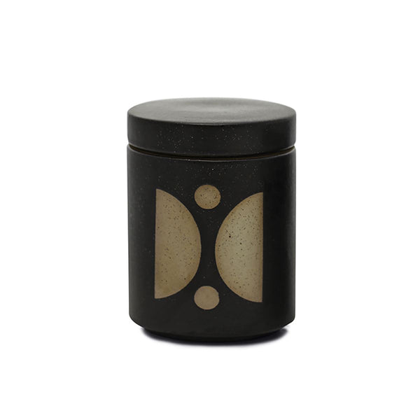 FORM BLACK CERAMIC CANDLE WITH LID - Palo Santo Suede