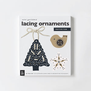 Festive Fun Lacing Ornaments by Wee Gallery