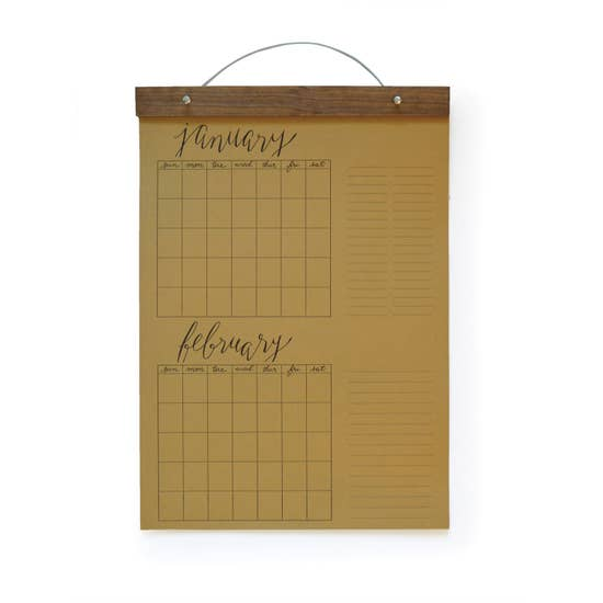 Big Write-in Calendar Kraft