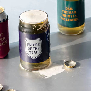 Father Beer Can Glass