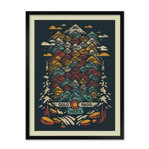 Limited Edition Colorado 14ers Hand Printed Poster by YoColorado