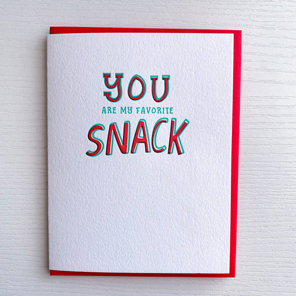Love Card, Favorite Snack by DeLuce Design