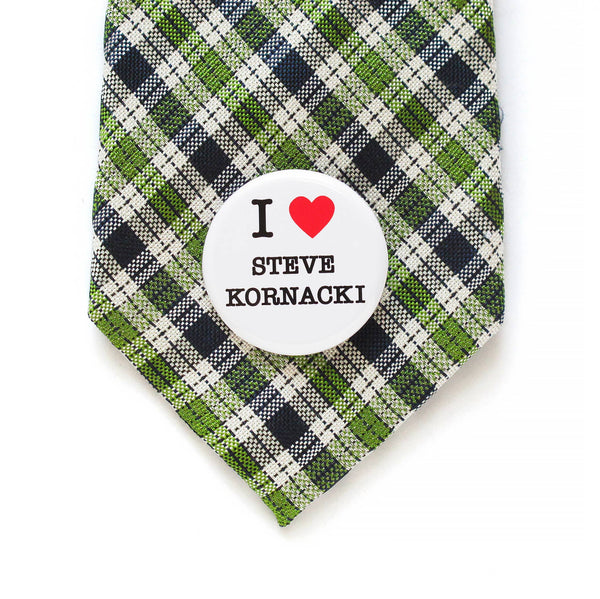 STEVE KORNACKI pinback button by WORD FOR WORD Factory