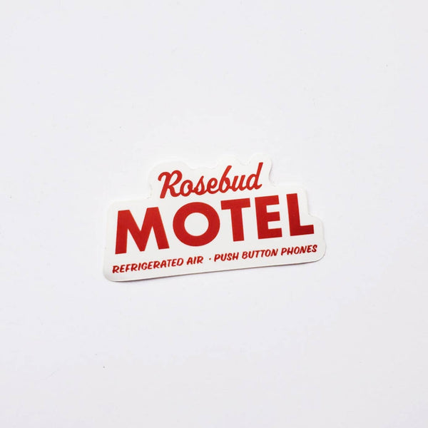 Rosebud Motel Sticker by Party Mountain Paper