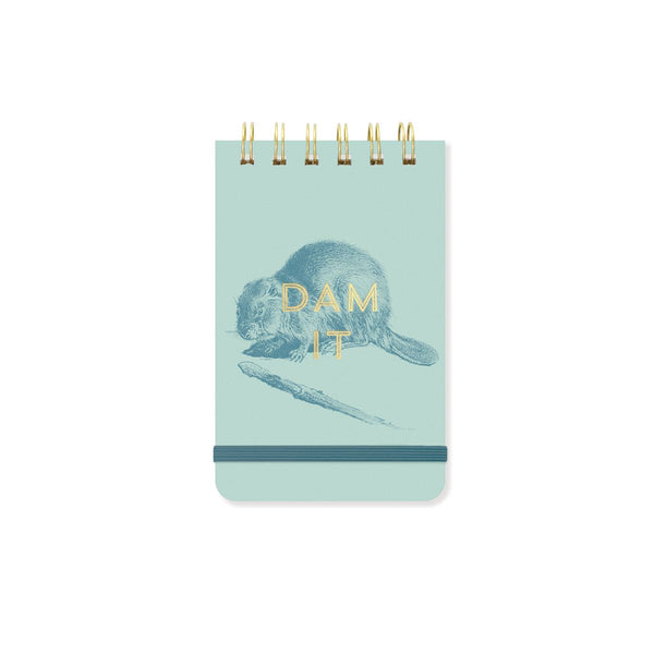 "BEAVER ""DAM IT"" - TWIN WIRE NOTEPAD"