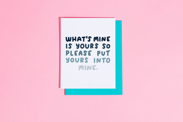 What's mine is yours... card by Craft Boner