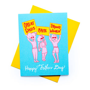 Feminist Father's Day Card by Rhino Parade