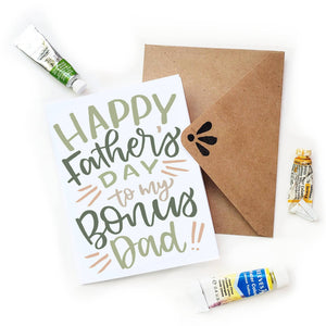 Father's Day Bonus Dad Card by Sketchy Notions