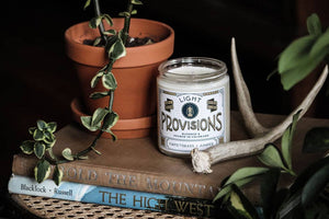 Light Provisions - 8 oz Sweetgrass + Juniper candle
