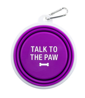 Talk To The Paw Silicone Dog Bowl