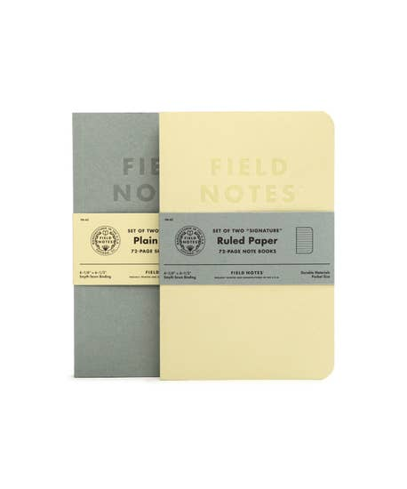 Signature Sketch Book & Note Book - 2pk RULED PAPER - Field Notes