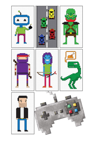 Pixel Gamer Pocket Coloring Book
