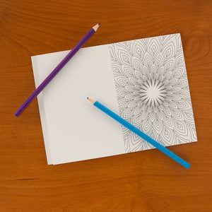 Geometric Pattern Pocket Coloring Book