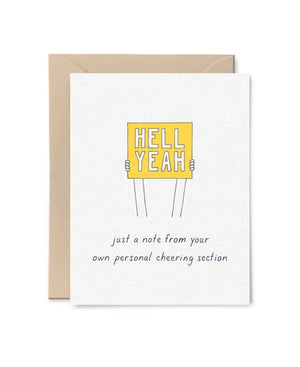 Personal Cheering Section Card by Little Goat Paper