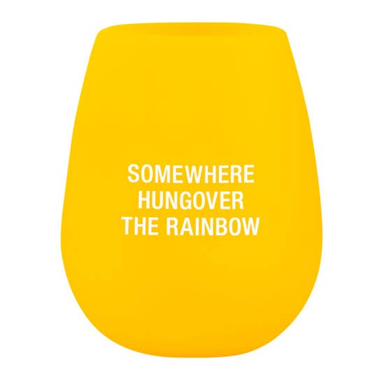 Hungover The Rainbow Stemless Silicone Wine Glass