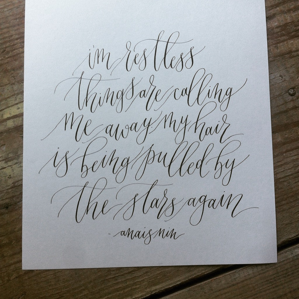 November modern calligraphy for beginners ladyfingers