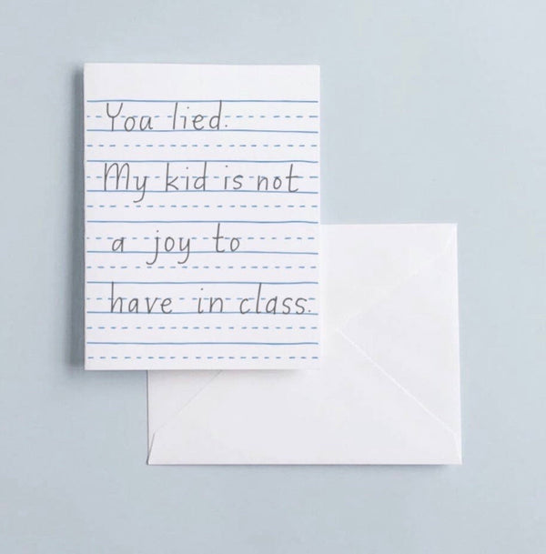 You lied card by Printerette Press