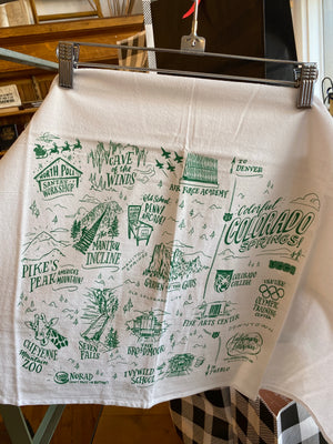 Colorado Springs Tea Towel