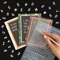 Scratch On Letter Board Greeting Cards by Letterfolk