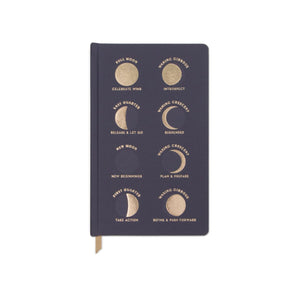 CHARCOAL MOON PHASES - MATTE SATIN BOOK