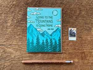 Mountains Home Card