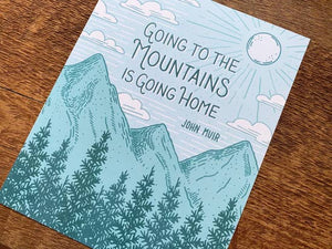 John Muir Mountain Art Print
